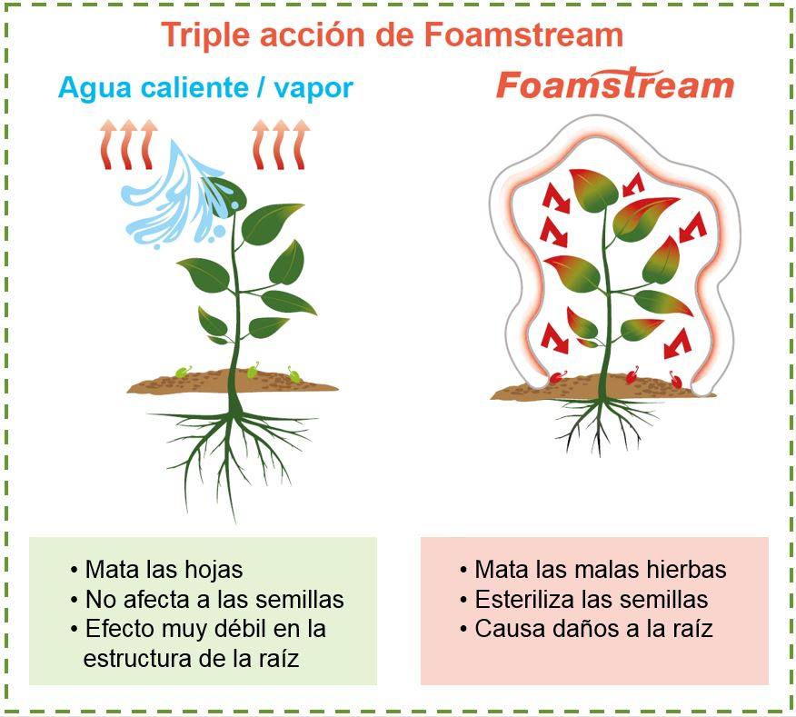 Triple acción de Foamstream